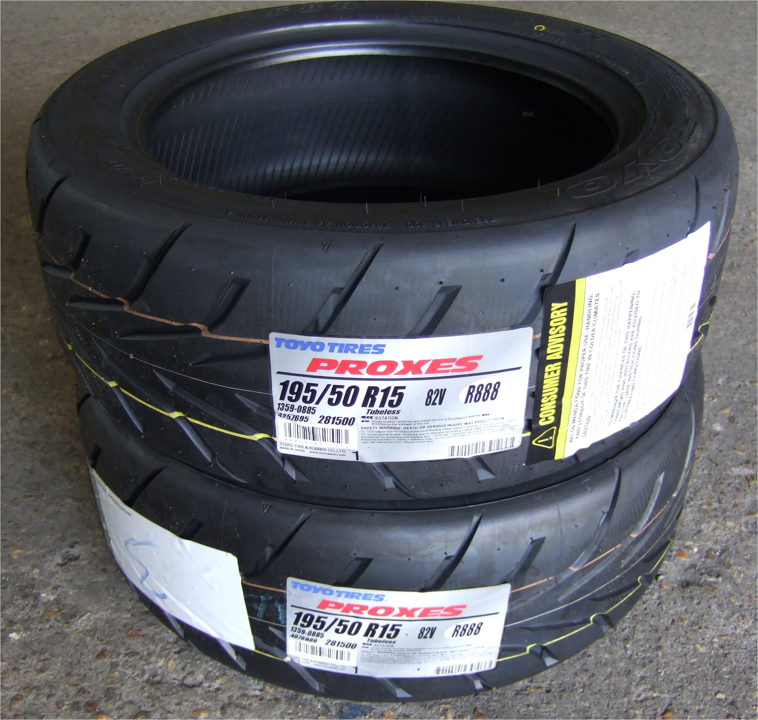 195 50 15 toyo proxes r888 track day tyres 1955015 195 50 15 pair of 2 ebay. Black Bedroom Furniture Sets. Home Design Ideas