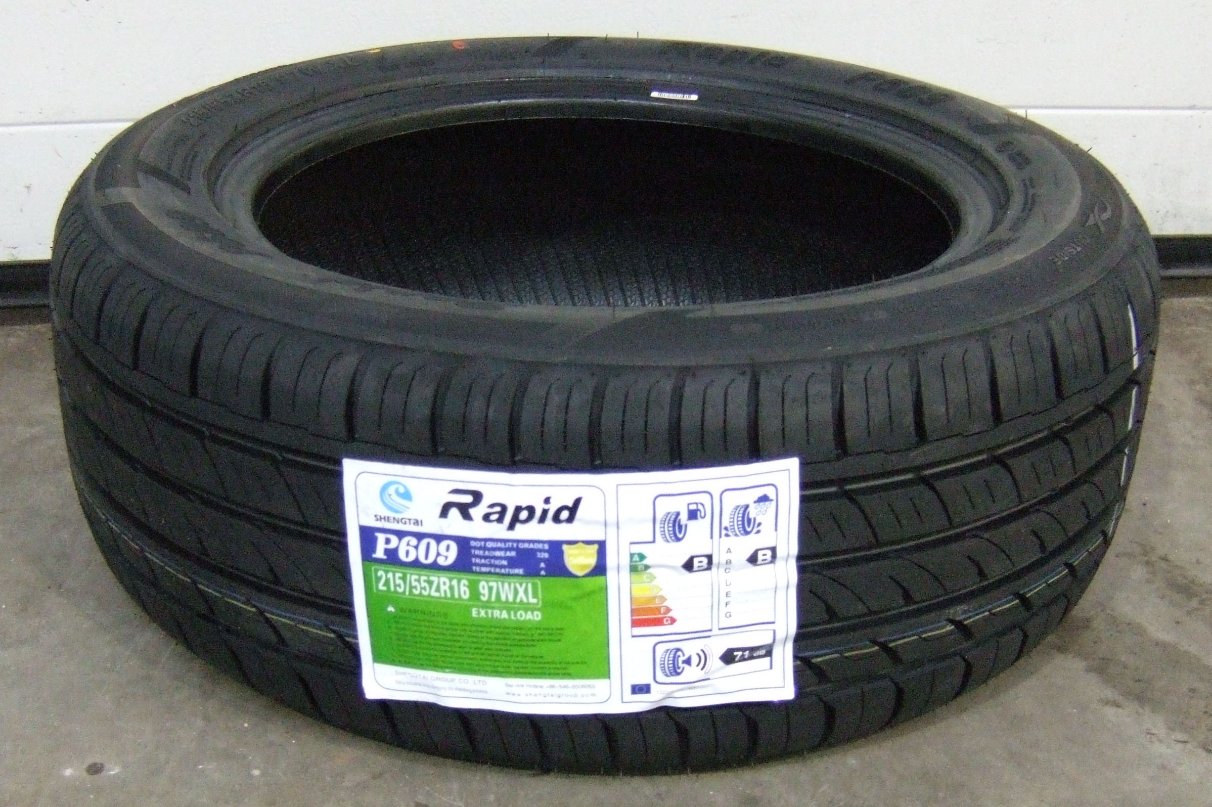 215 55 16 rapid p609 premium budget tyres 2155516 97w 215 55 16 x1 ebay. Black Bedroom Furniture Sets. Home Design Ideas