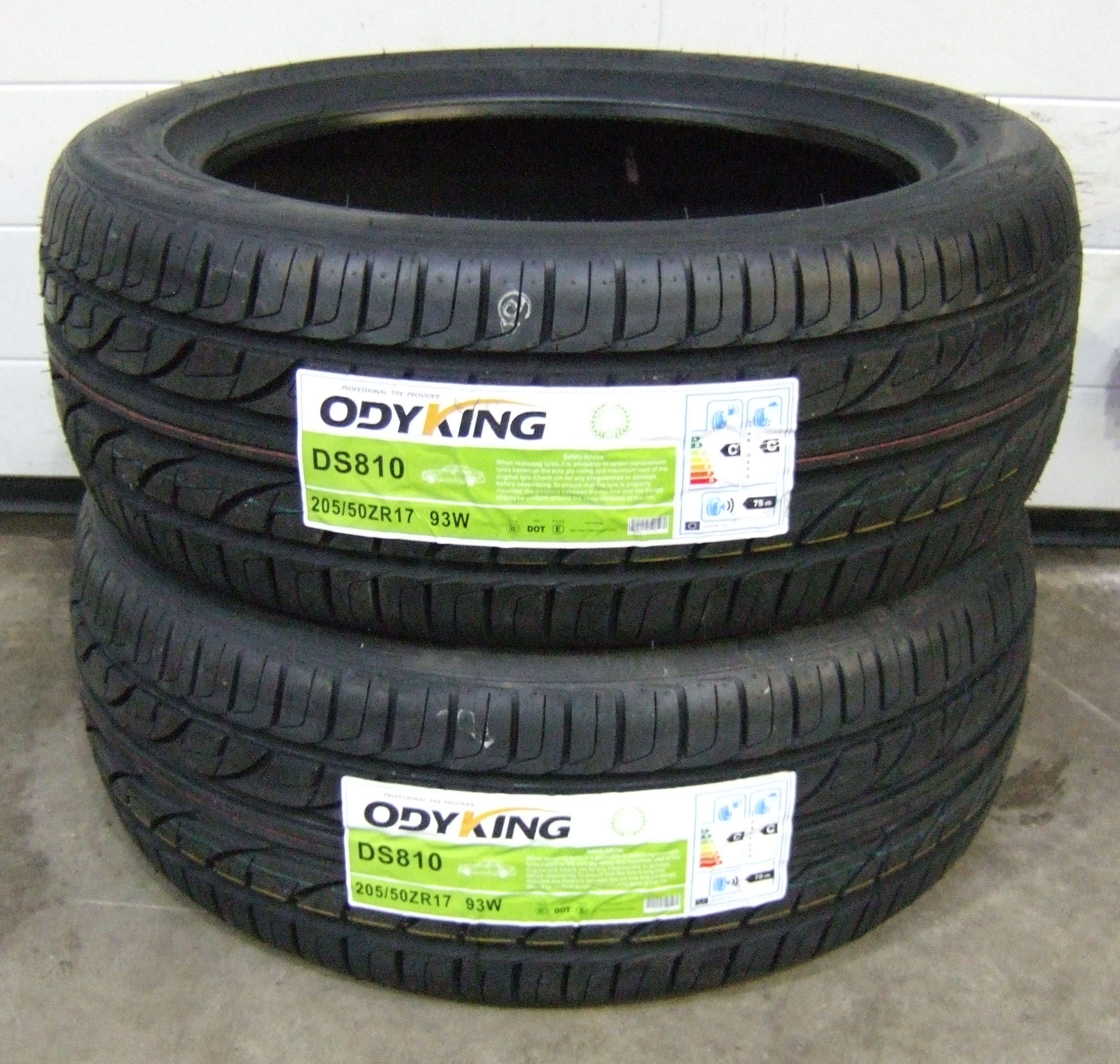 205 50 17 odyking ds810 premium budget tyres 2055017 93w 205 50 17 x2 ebay. Black Bedroom Furniture Sets. Home Design Ideas
