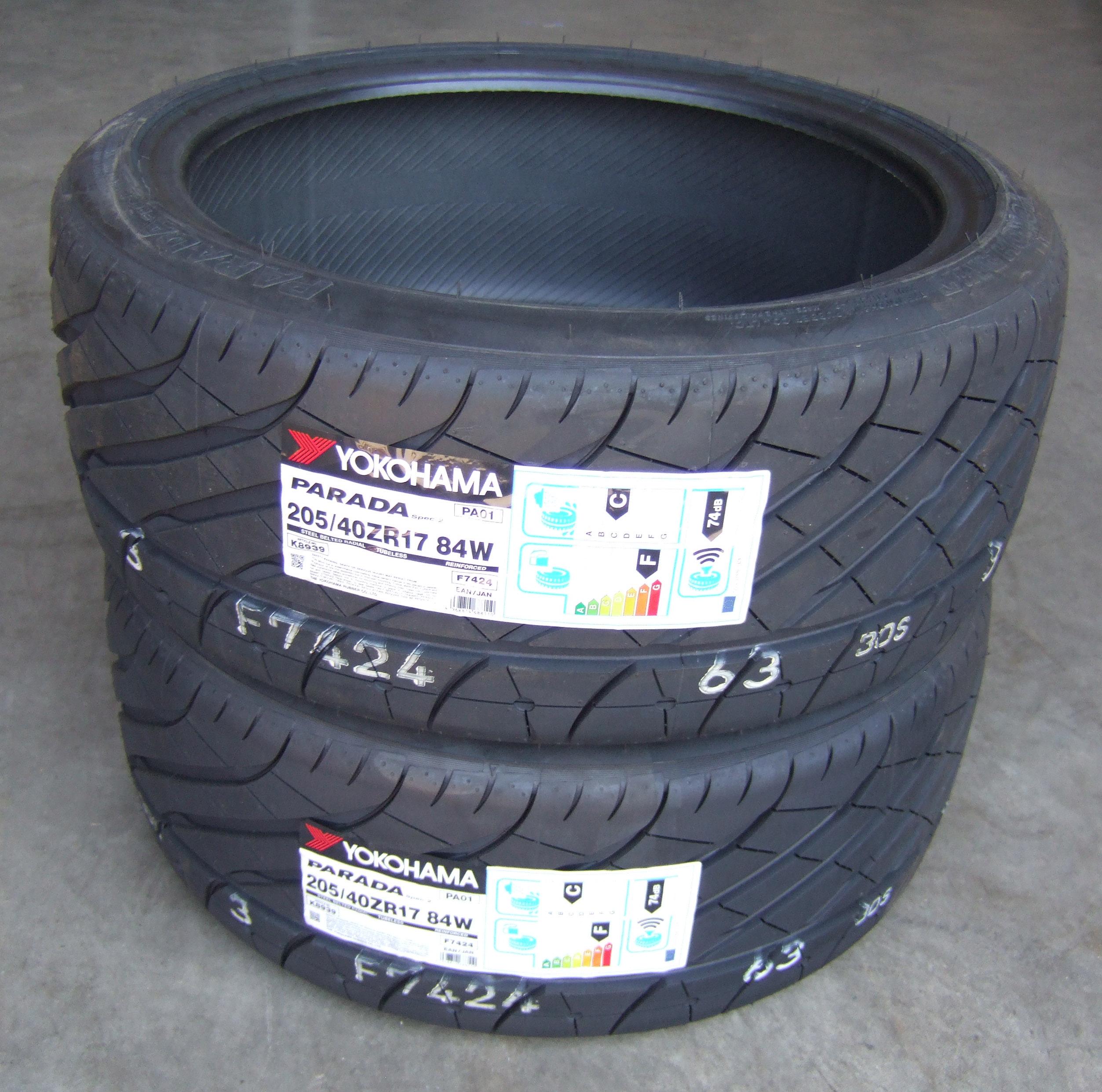 x2 205 40 17 yokohama parada spec 2 tyres 2054017 84w 205. Black Bedroom Furniture Sets. Home Design Ideas