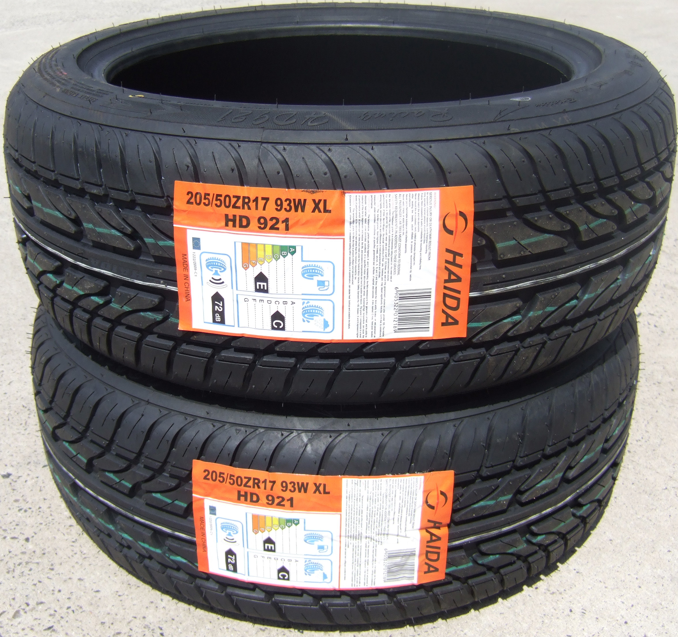 205 50 17 haida hd921 premium budget tyres 2055017 93w xl 205 50 17 x2 ebay. Black Bedroom Furniture Sets. Home Design Ideas