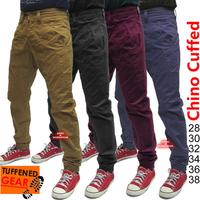Cuffed Hem Denim Retro Jogging Jeans  Carrot fit Joggers Mens  eBay