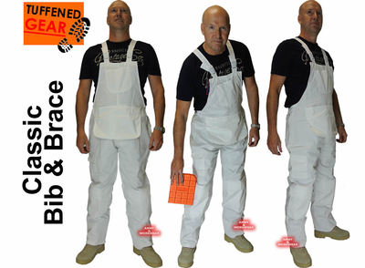 Classic Painters Bib and Brace,Knee Pad Pockets,Coveral