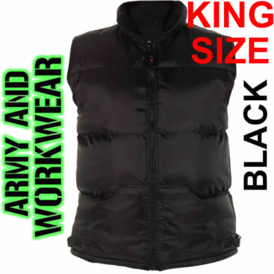 Bodywarmer-Mens-Heavy-Padded-sleeveless-Gilet-KING-SIZE