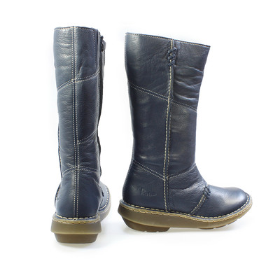 dr martens new authentic dress blue wedge zip calf boots