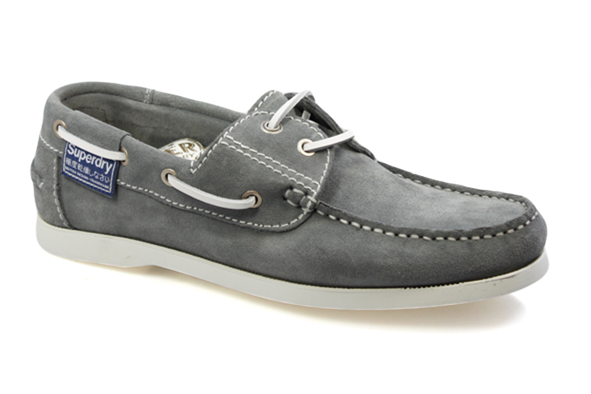 superdry riva suede grey mens boat shoes ebay