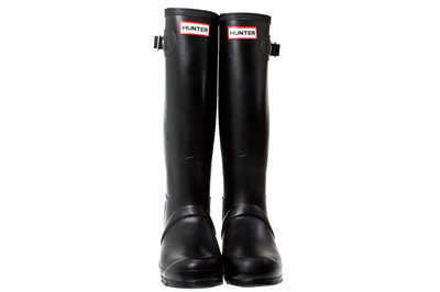 Hunter Wellies Original Tall Women Black Rubber Boots