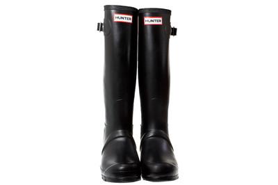 Hunter Wellies Original Tall Women Black Rubber Boots | eBay