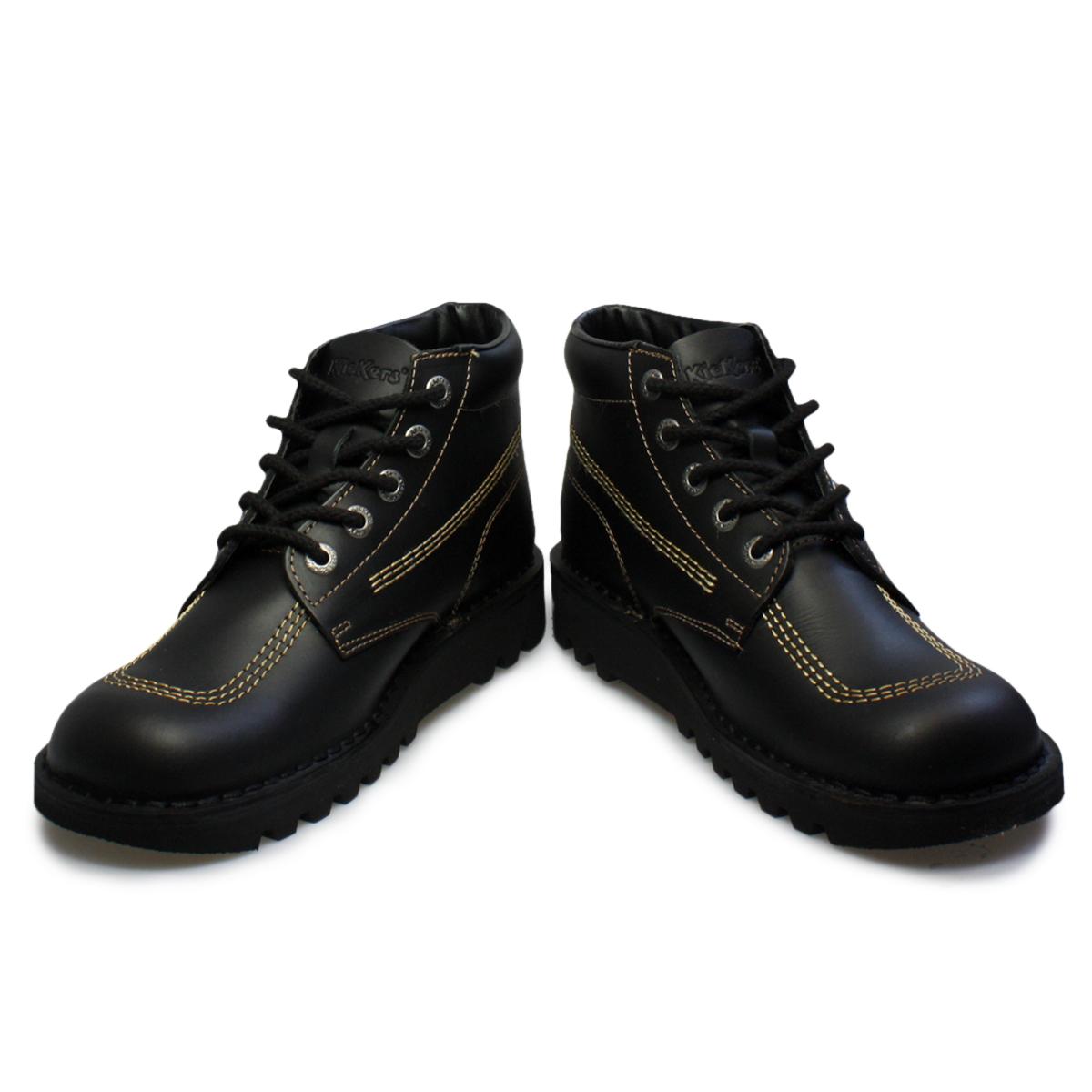 Kickers Black School Shoes Women