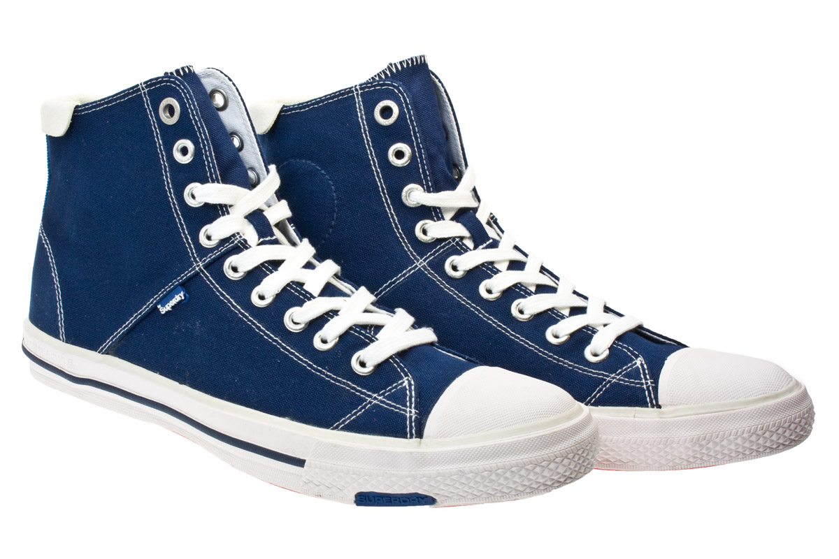 superdry series hi mens navy white canvas high