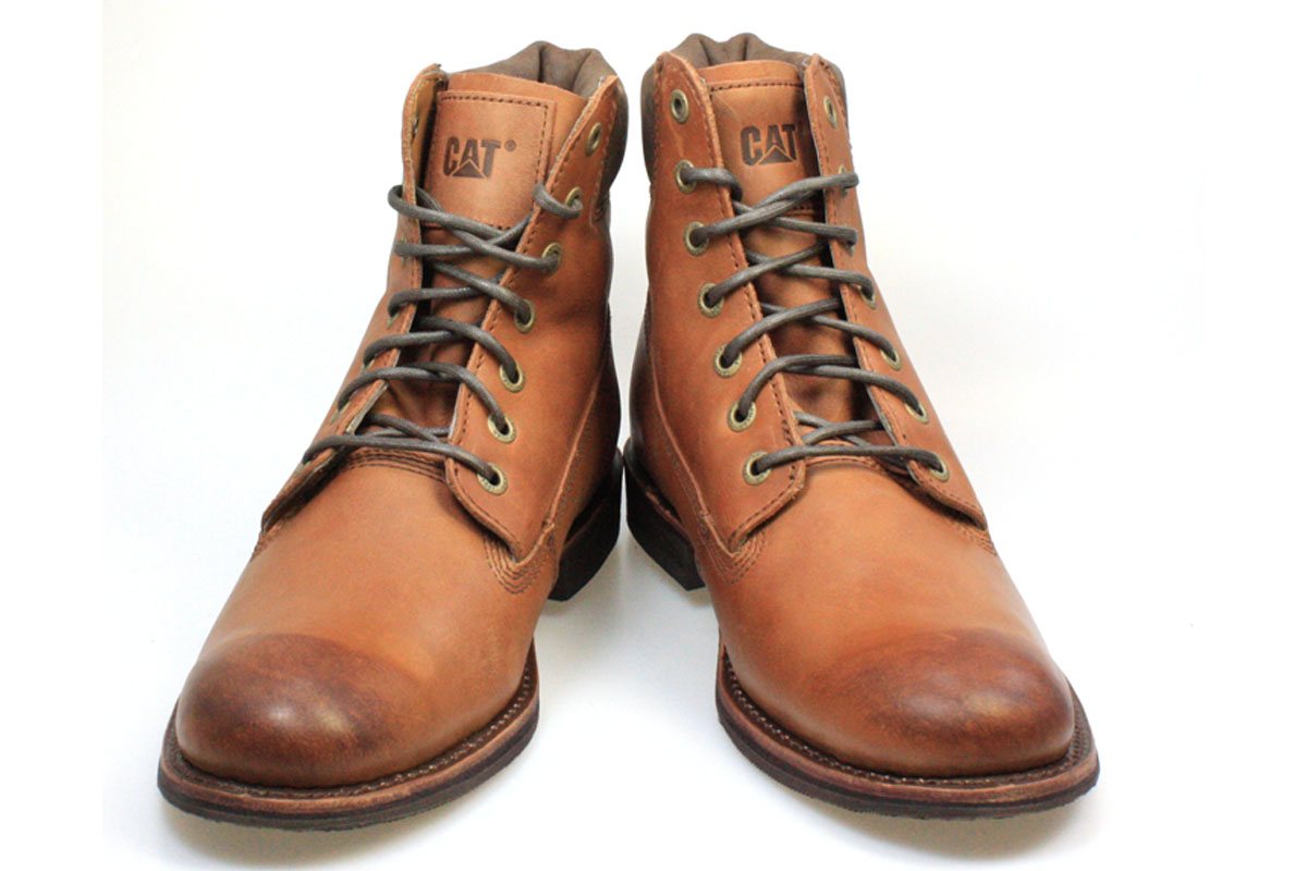 Caterpillar Walton Mens Barnaby Brown Leather Lace-Up Boots Shoes ...