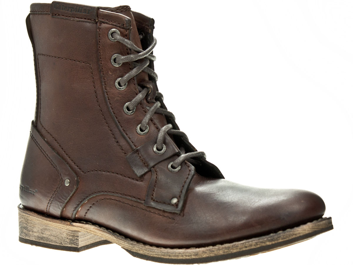 caterpillar abe brown leather mens ankle boots ebay