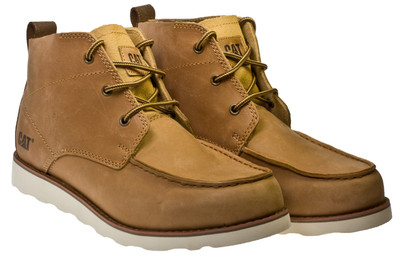 Caterpillar Davis Brown Mens Leather Desert Work Boots Shoes Size ...