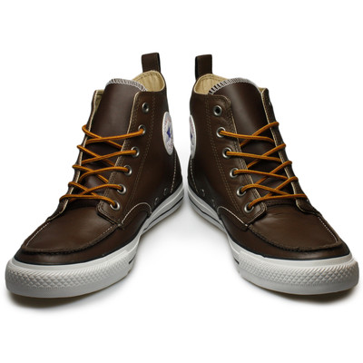 brown leather converse high tops