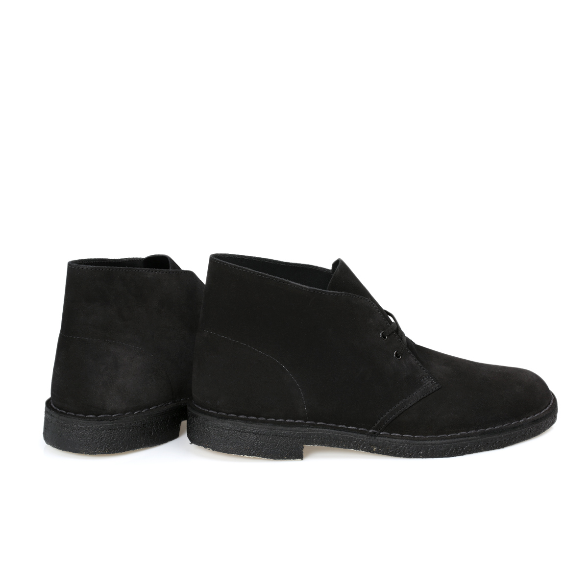 clarks black suede desert mens boots shoes size 8 11 ebay