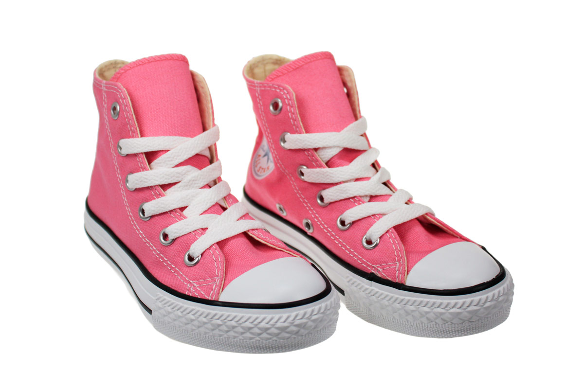converse all juniors infant hi pink trainers