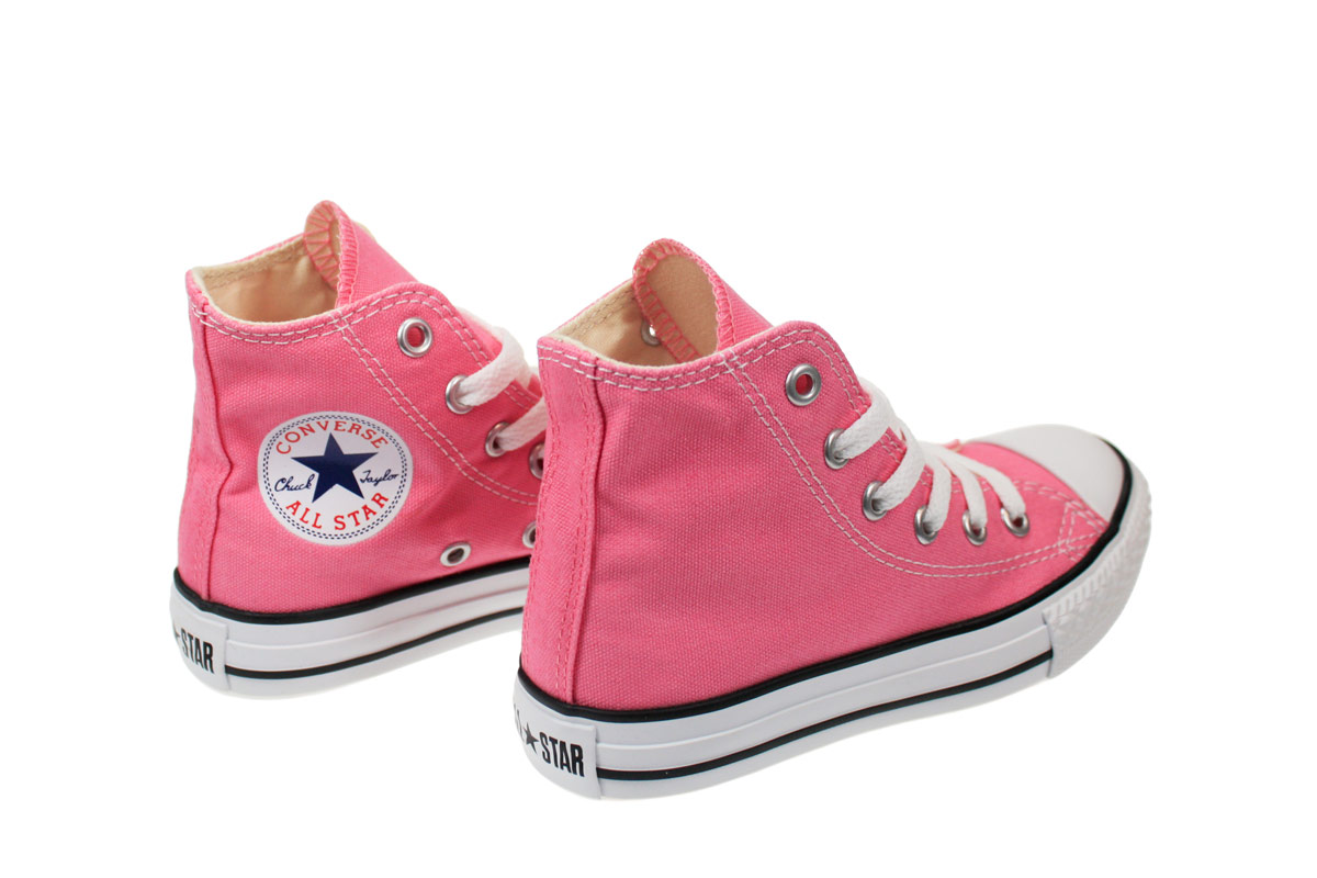 Converse All Star Juniors Kids Infant Hi Pink Trainers ...