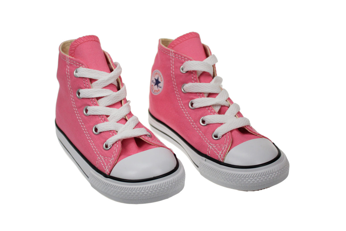 Converse Hi Toddler Infant Kids Pink Canvas Trainers