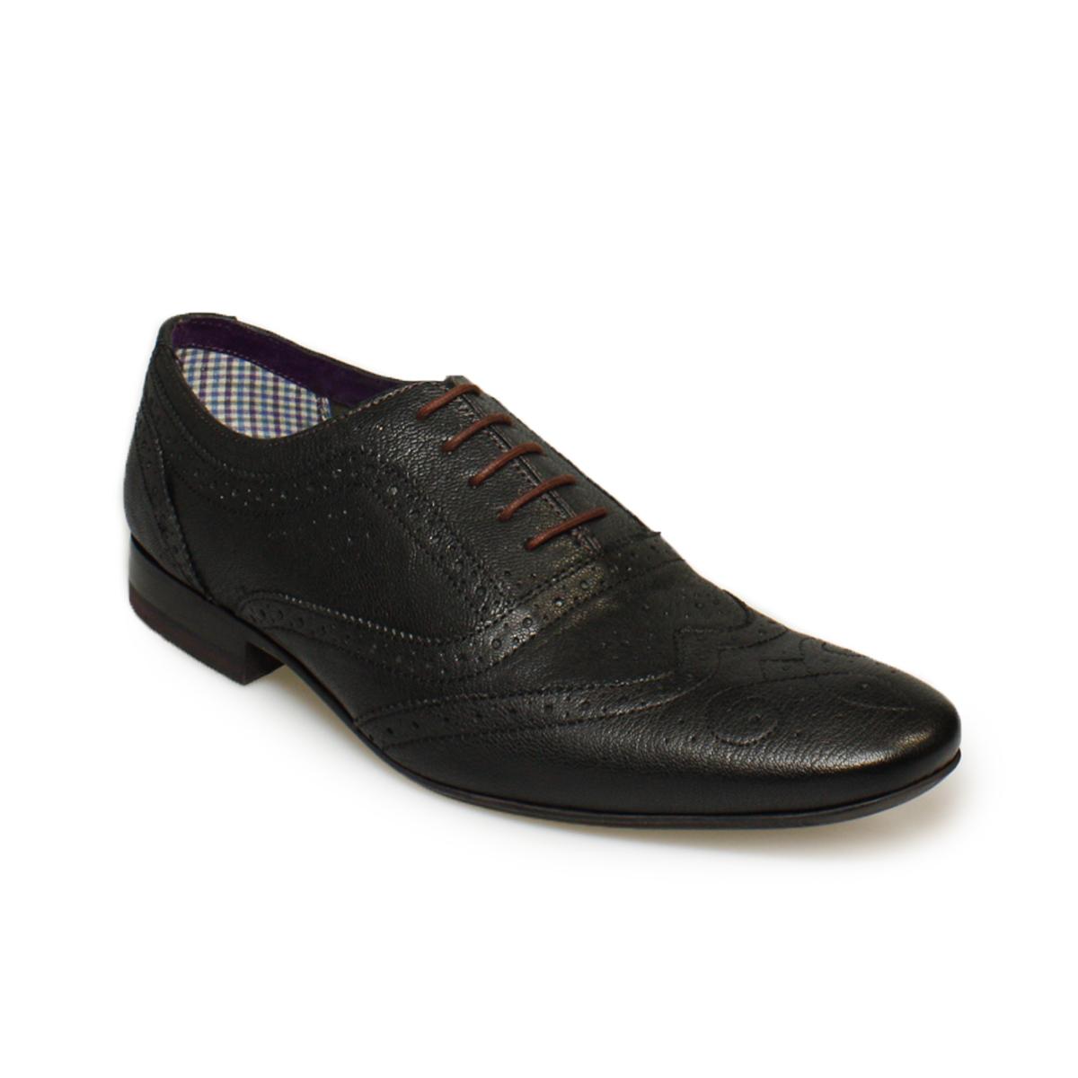 ted baker cirek black leather mens brogue shoes size 4 ebay