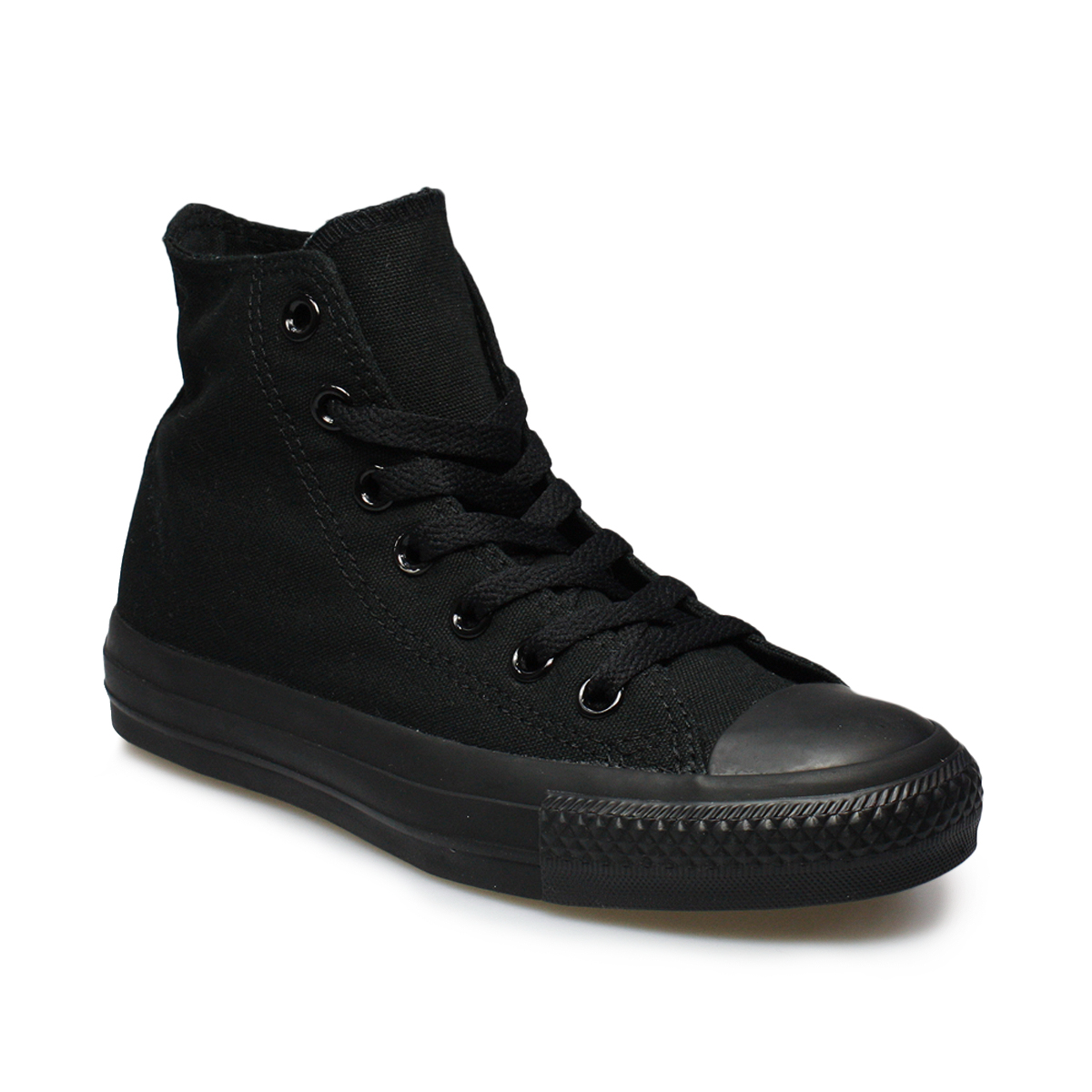converse all black hi tops mens womens trianers