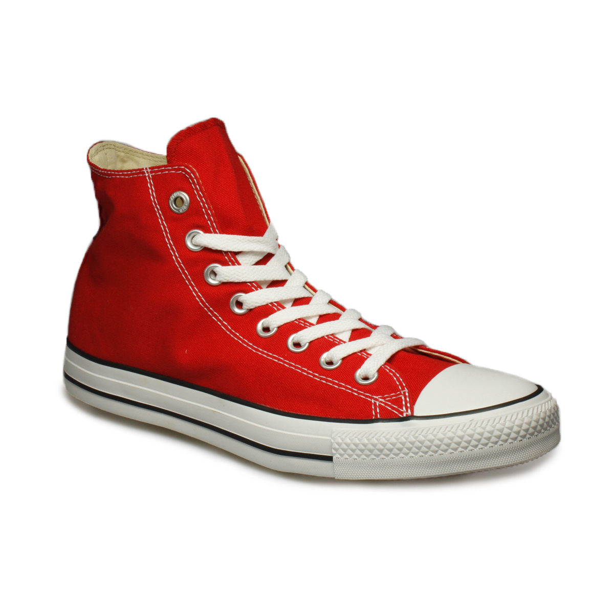 Converse All Star Red White Canvas Mens Womens Trainers ...
