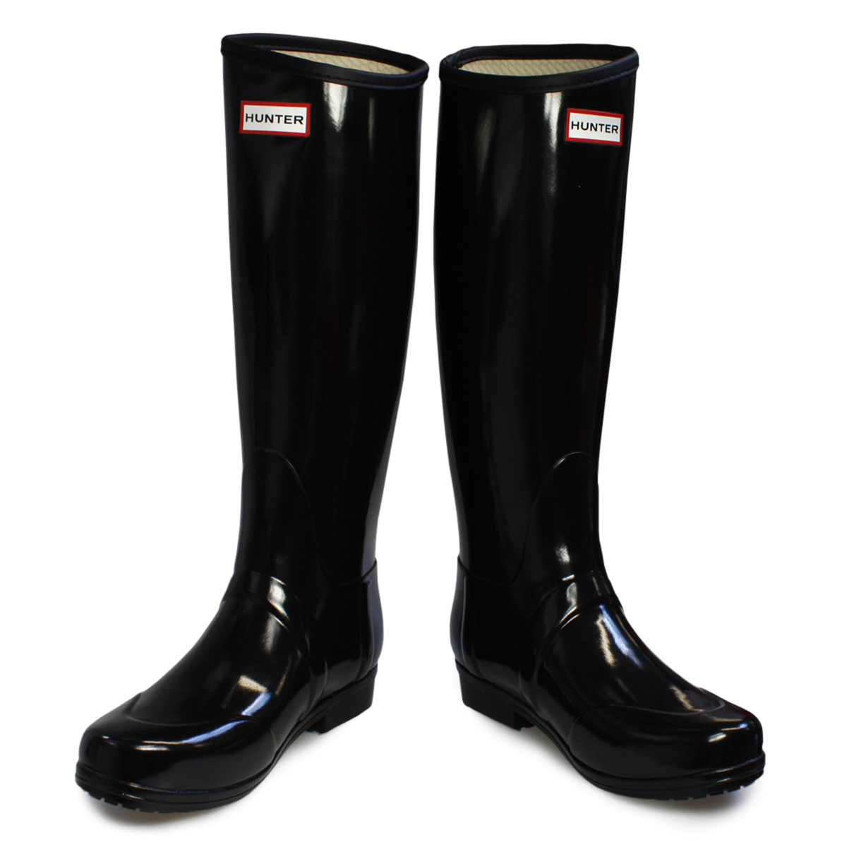 Luxury Hunter Wellies Original Tall Women Black Rubber Boots | EBay