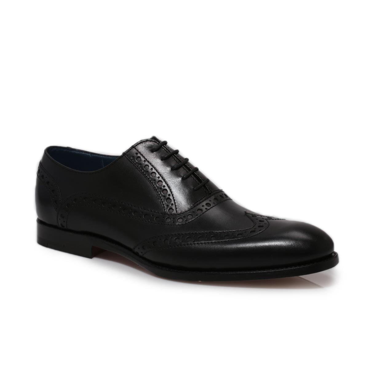 Barker Grant Black Leather Smart Lace Up Mens Formal Shoes ...