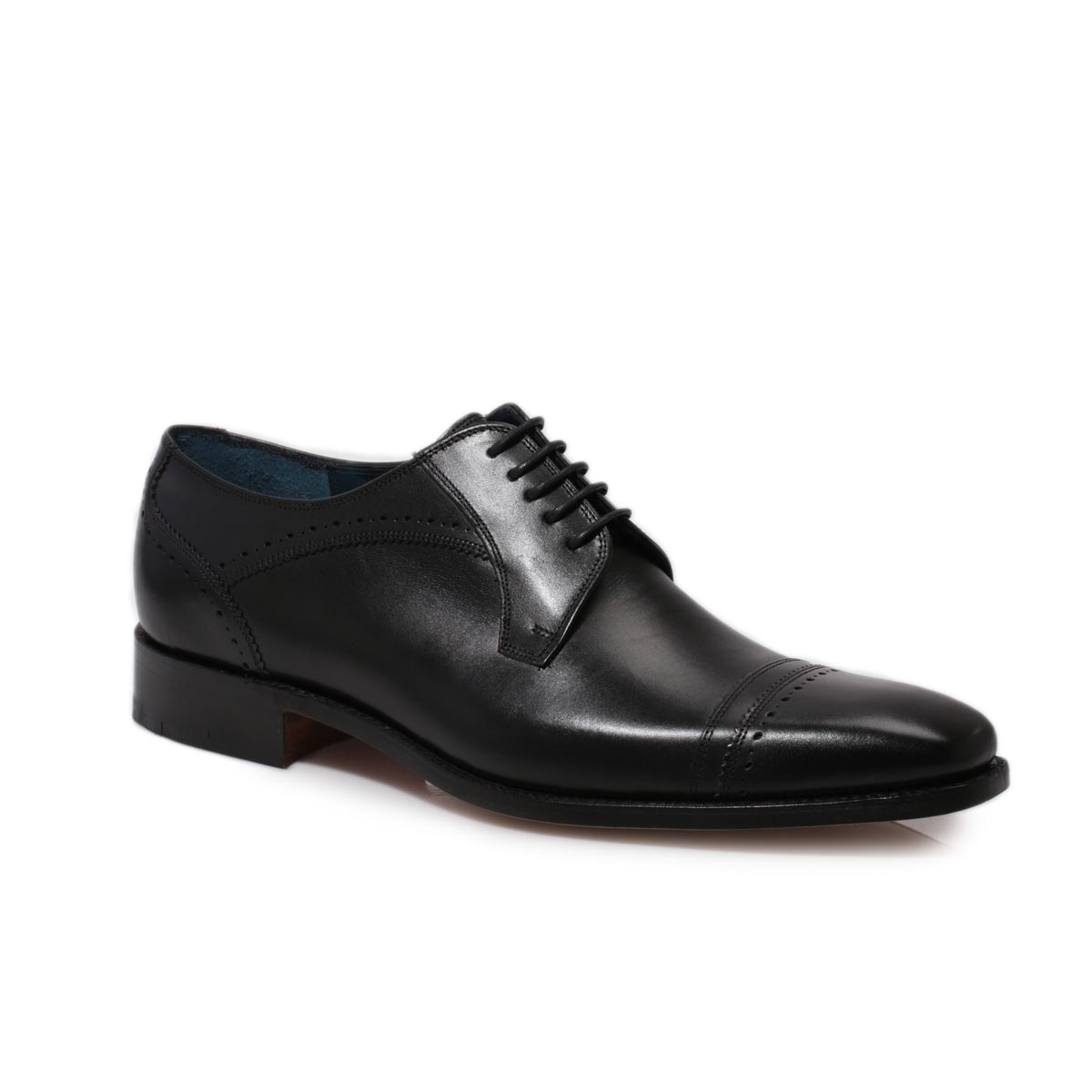 barker oxford black leather smart lace up mens