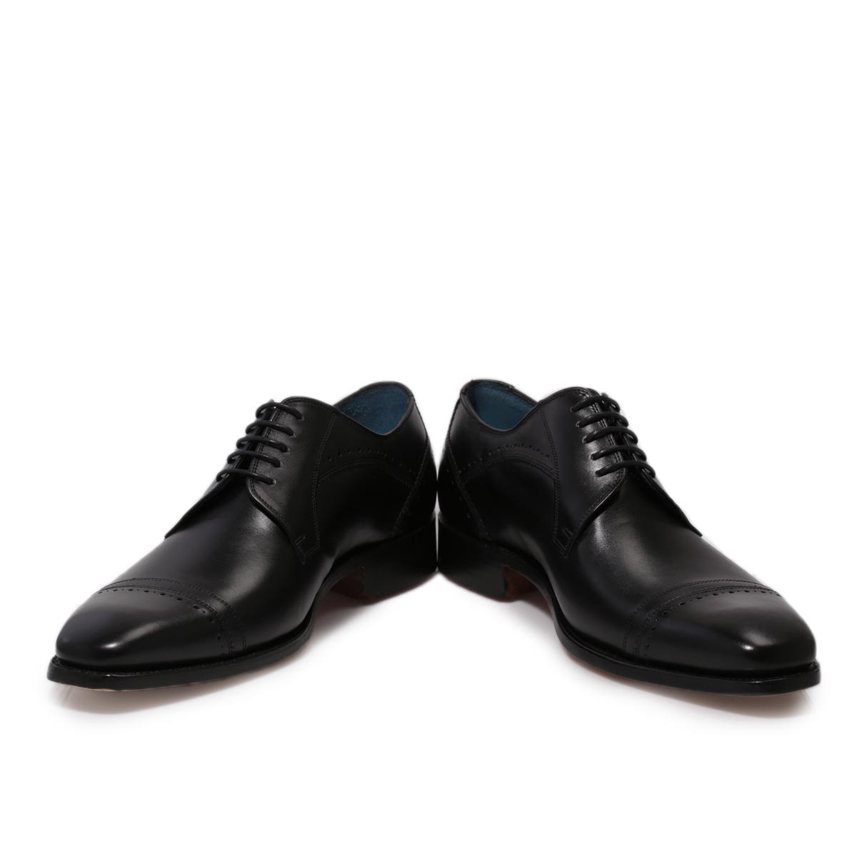 Barker Blake Oxford Black Leather Smart Lace Up Mens Formal Shoes ...