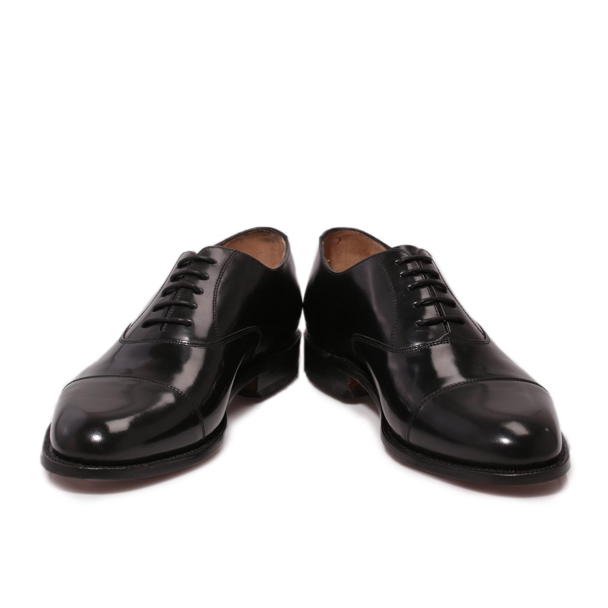 Brown Shoes With Black Leather Watch