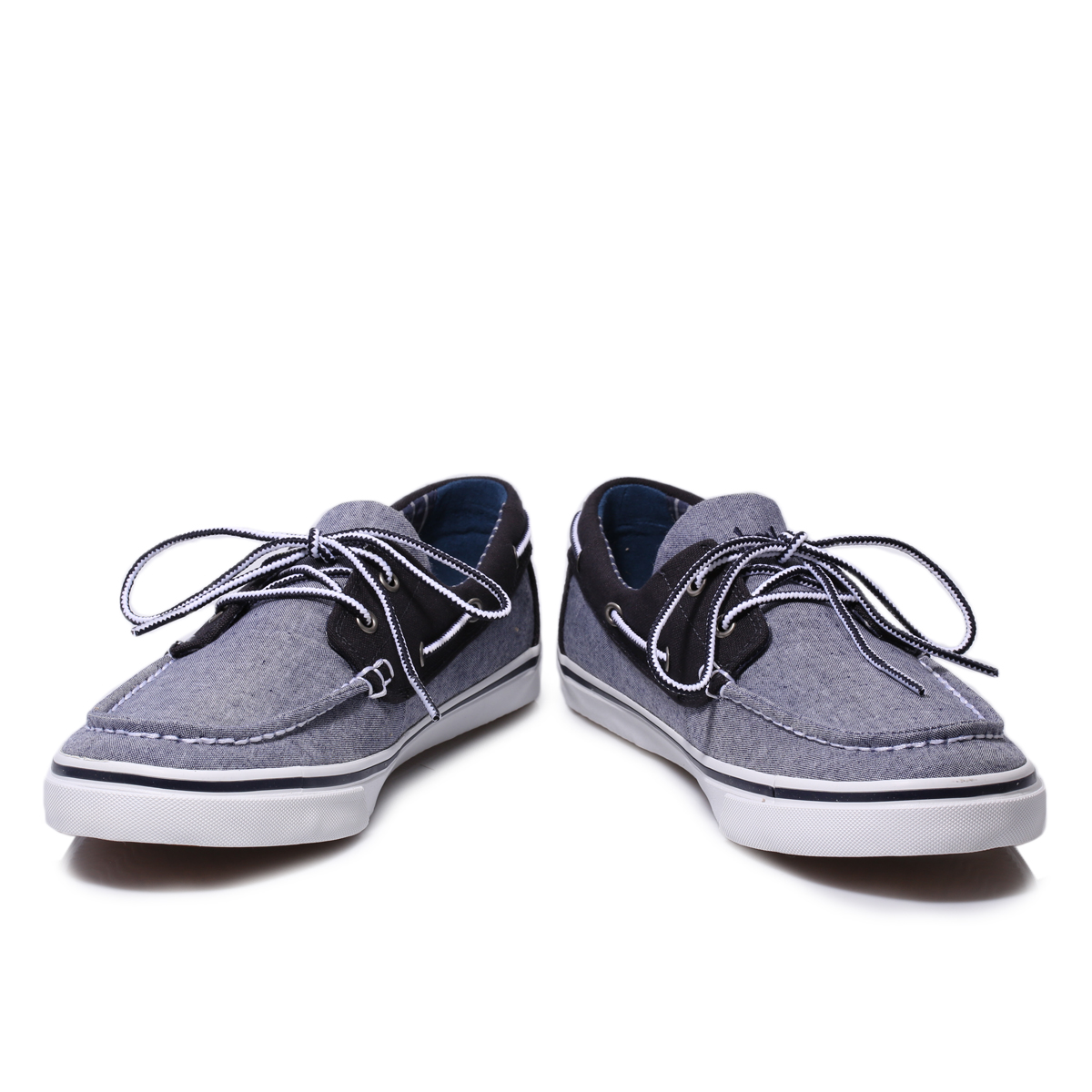 Timberland Blue Grey Earthkeepers New Market Canvas Boat Shoe Mens ...