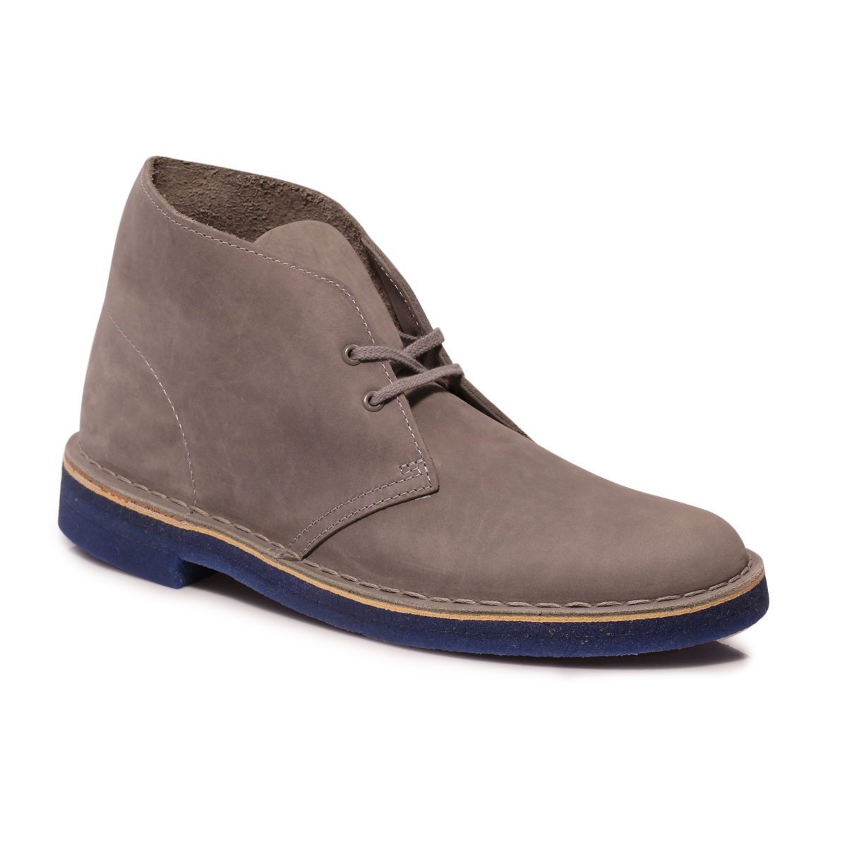 Clarks Mens Grey Blue Suede Desert Boots Shoes Size 7-11 | eBay