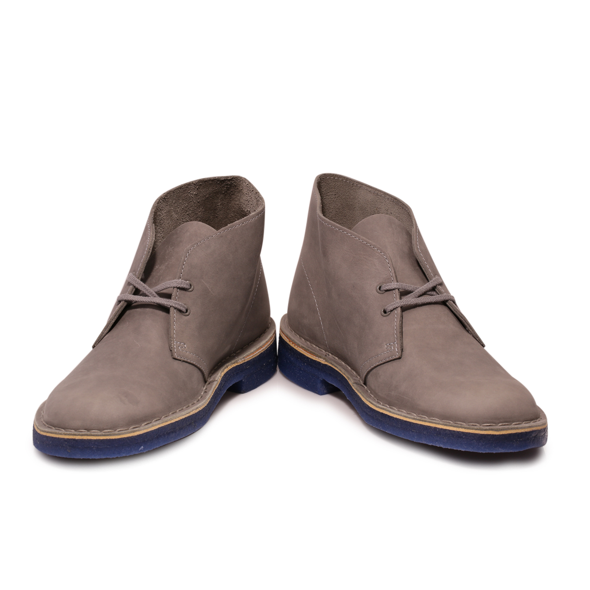 clarks mens grey blue suede desert boots shoes size 7 11