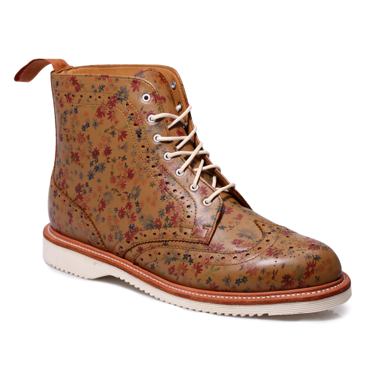 Dr Martens Brown Bentley Leather Brogue Ankle High Boots Shoes ...