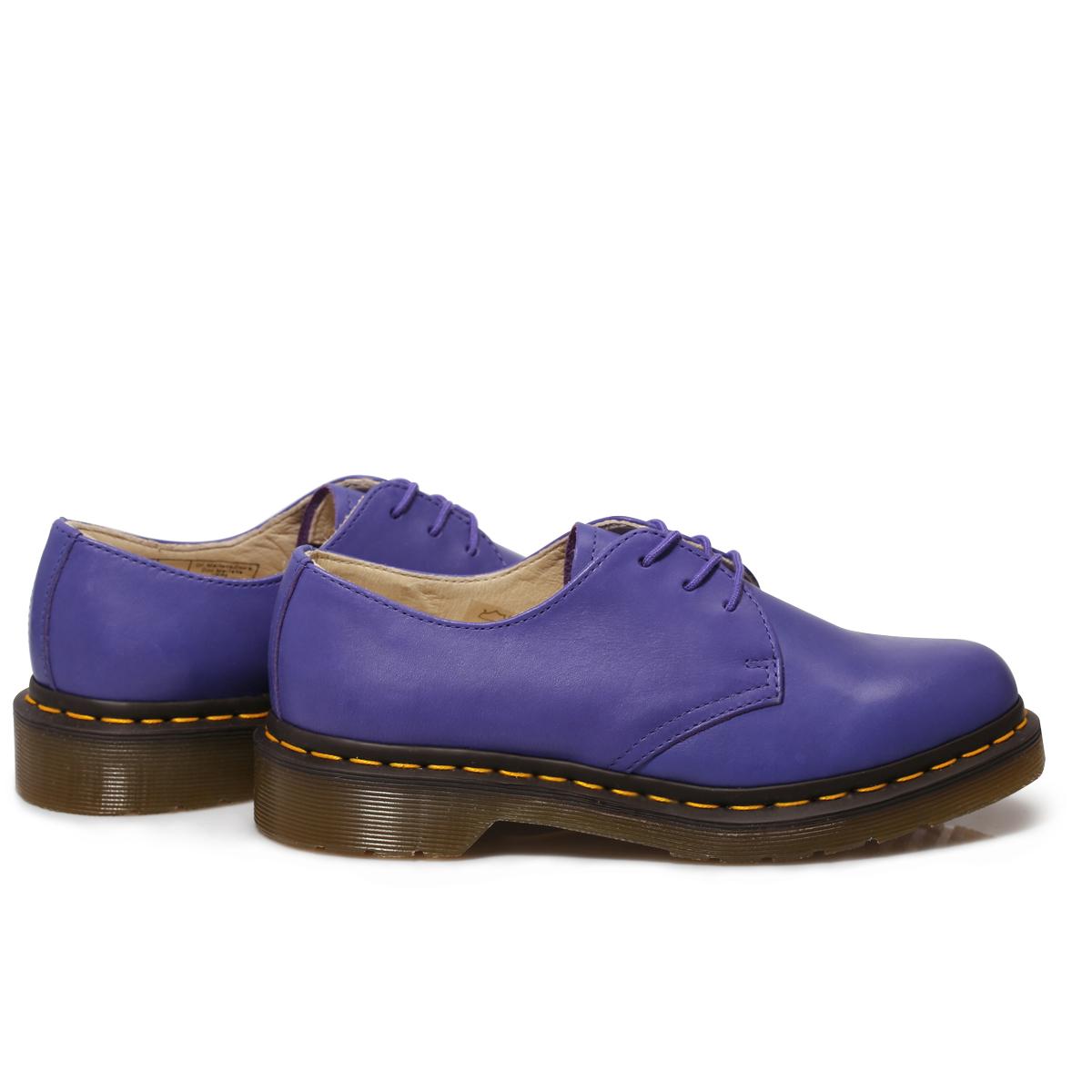 Fantastic Dr Martens Womenu2019s 1461 Blueberry Leather Cartegena Womens Shoes Size 3-8 | EBay