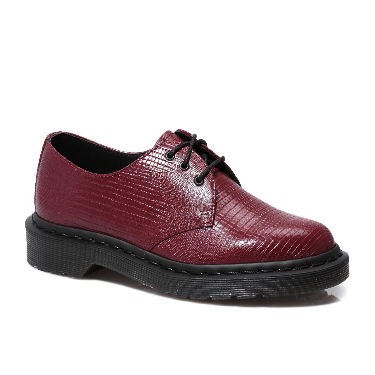 dr martens 1461 lizard oxblood red mens womens smart leather shoes size 3 8 ebay. Black Bedroom Furniture Sets. Home Design Ideas