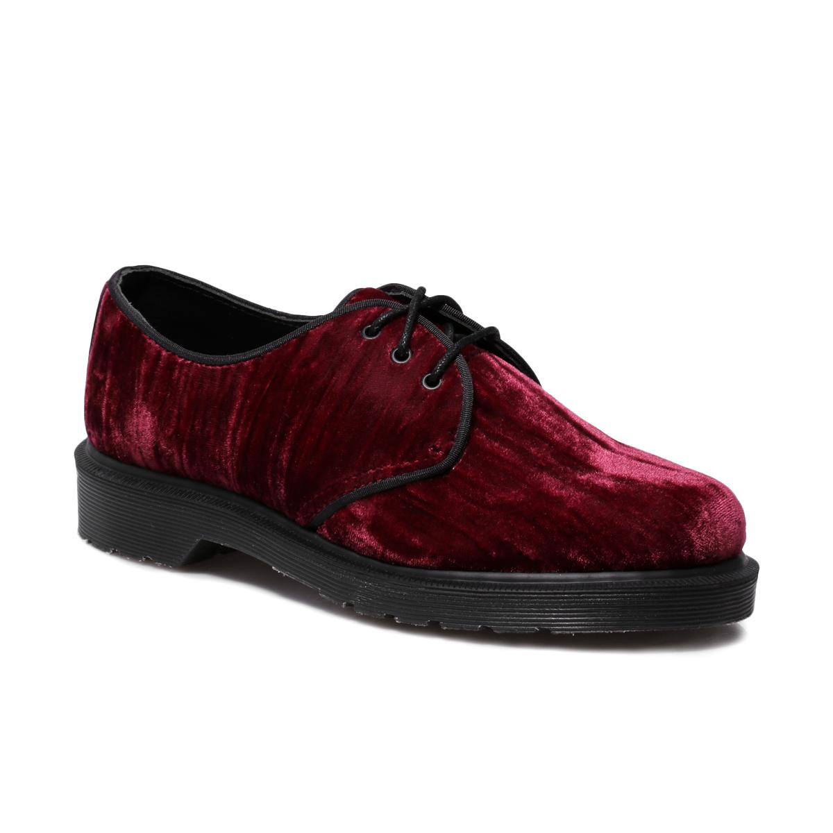 Dr Martens 1461 Hugh Cherry Red Crushed Velvet Mens Womens Boots ...