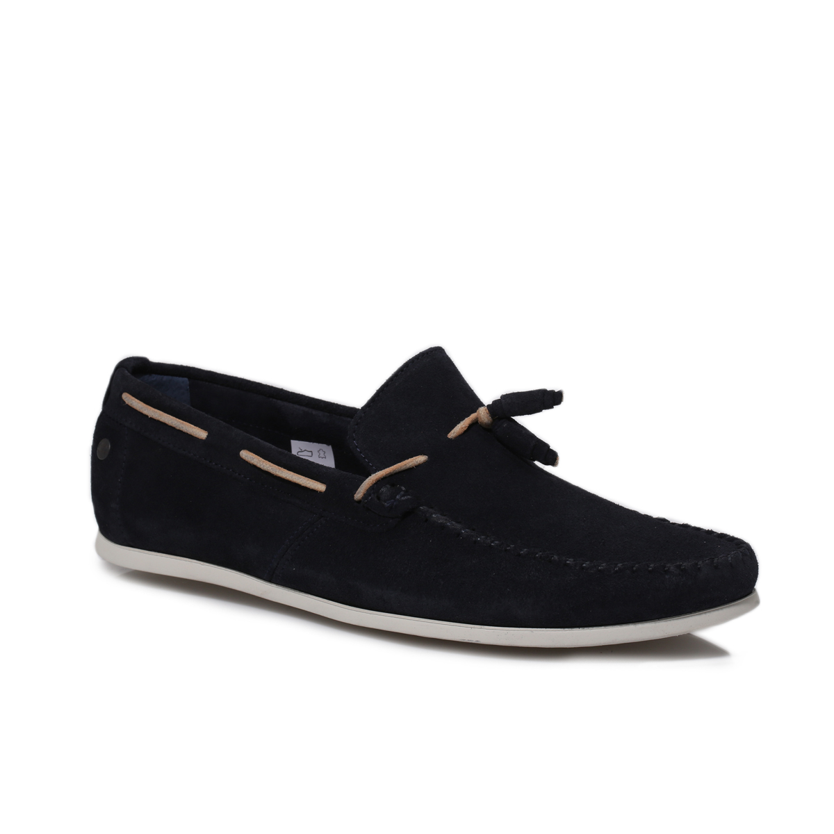 Base London Mens Joplin Navy Blue Suede Moccasins Deck Boat Shoes ...