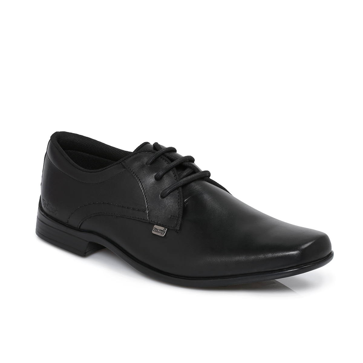 kickers ferock black lace up brogues boys mens school