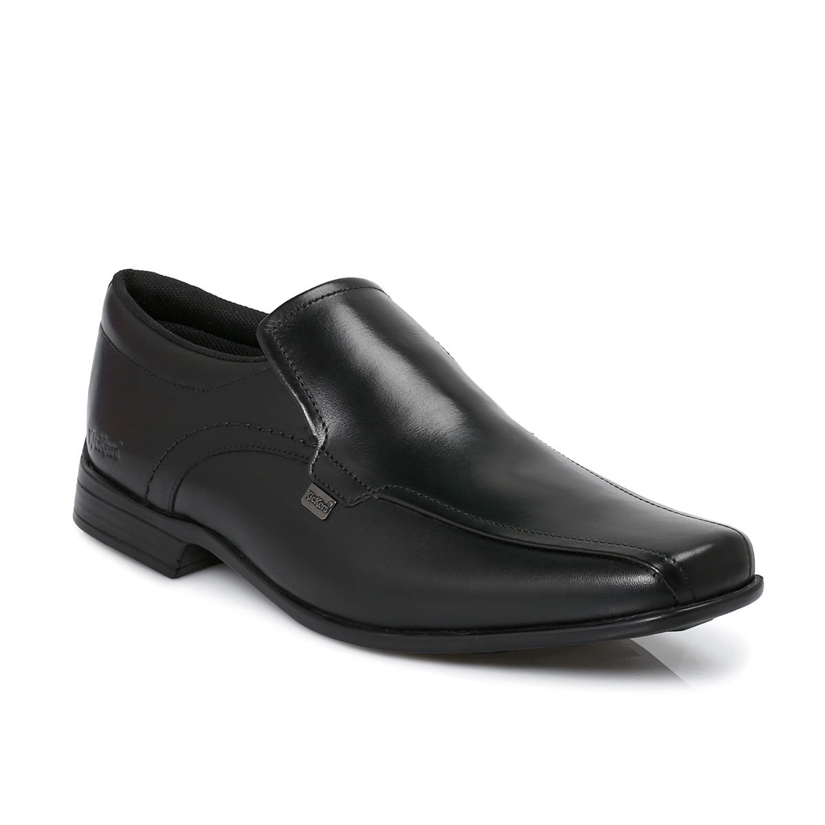 kickers ferock black slip on shoes mens boys school office