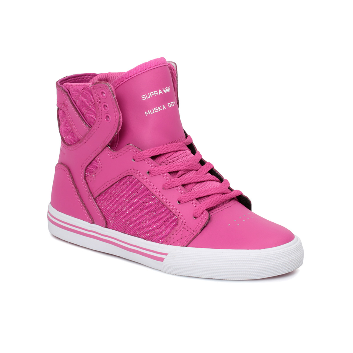 supra junior skytop pink hi top kids shoes trainers size