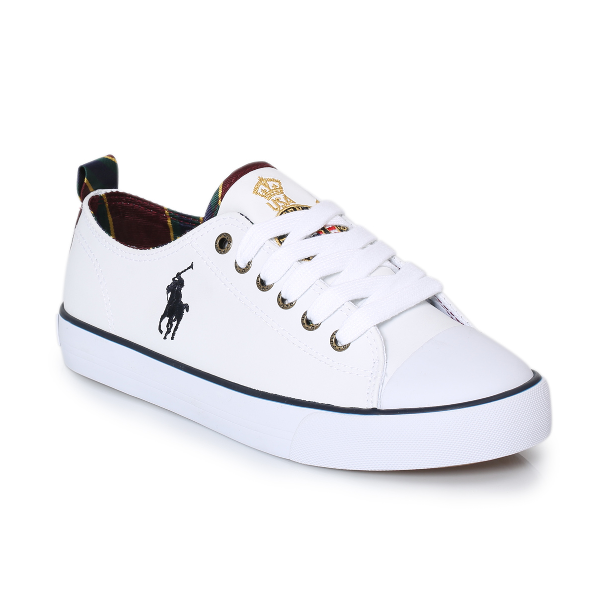 Ralph Lauren White Child Falmuth Low Top Leather Kids ...