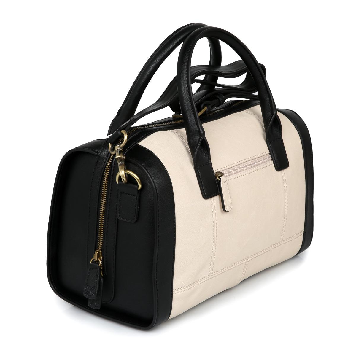 Fiorelli Black White Faux Leather Abbie Bowling Ladies Bag   eBay
