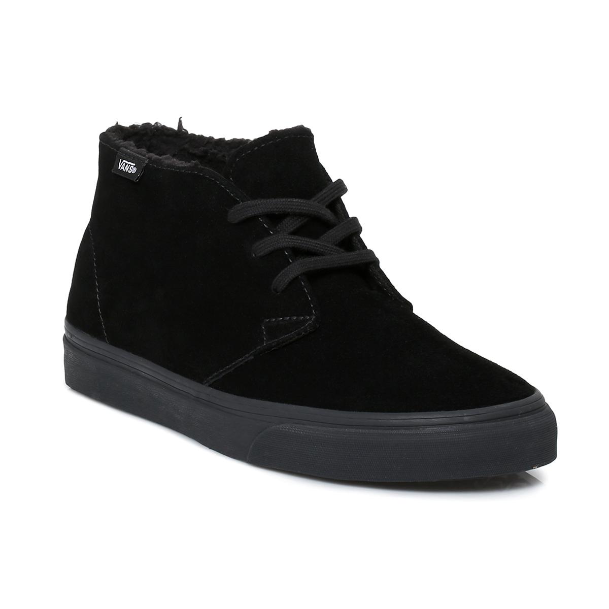 Vans Black Suede Chukka Decon Fleece Boots Size 3-11 | eBay