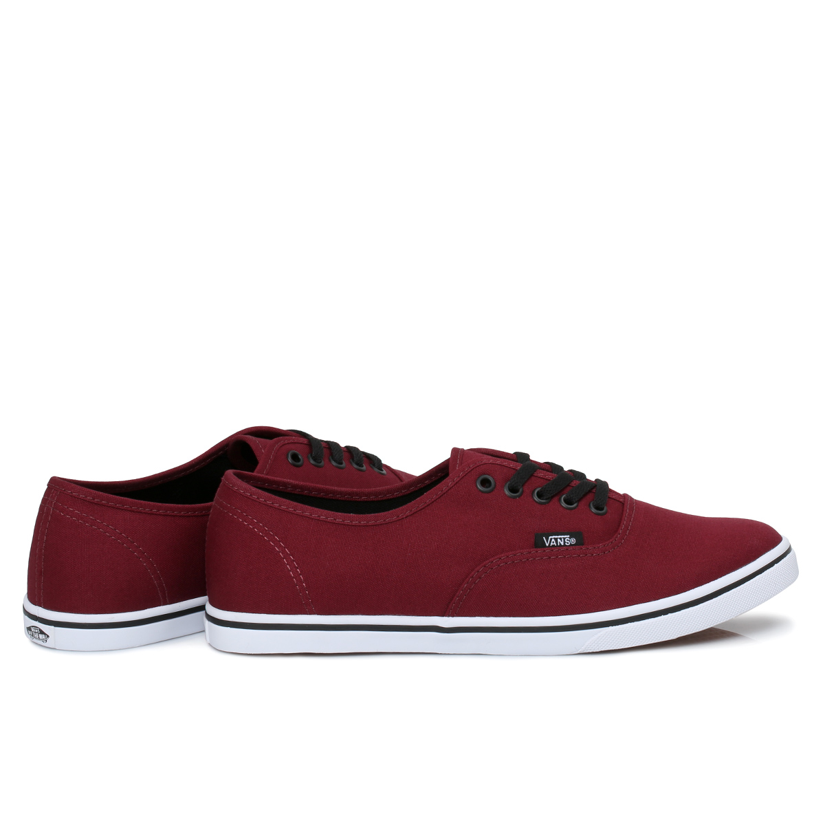 vans authentic lo pro port burgundy canvas womens trainers. Black Bedroom Furniture Sets. Home Design Ideas
