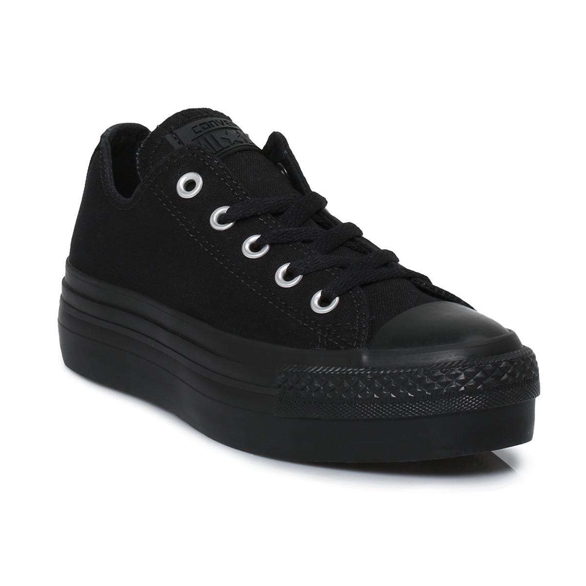 all black converse platform