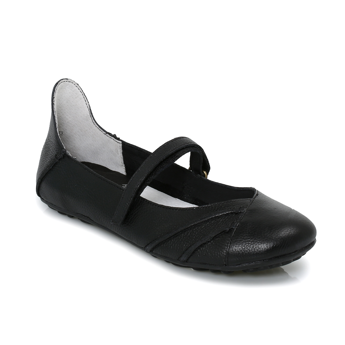 Hush Puppies Brietta Black Leather Womens Flats Shoes Size 3 8