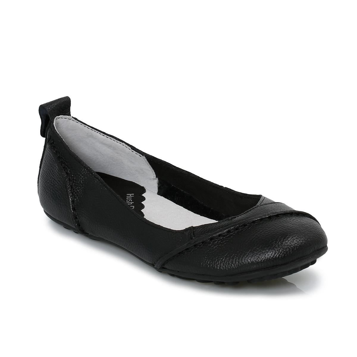 hush puppies janessa black womens flats ballerina shoes