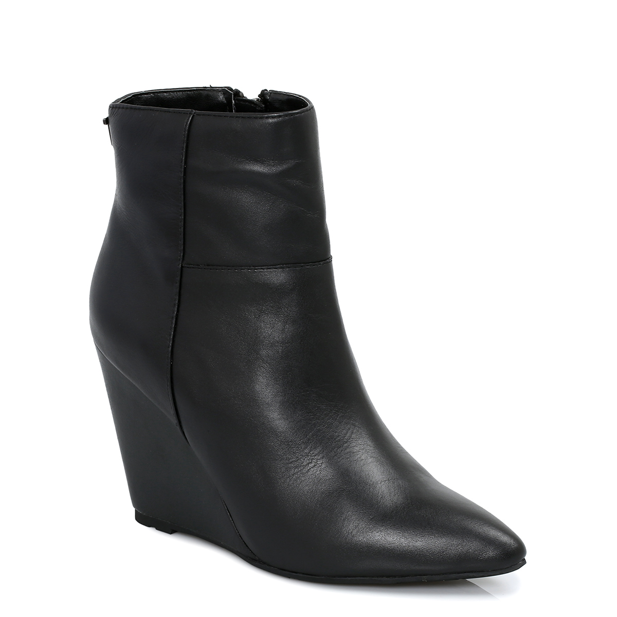 ted baker black leather skovsa womens ankle boots shoes