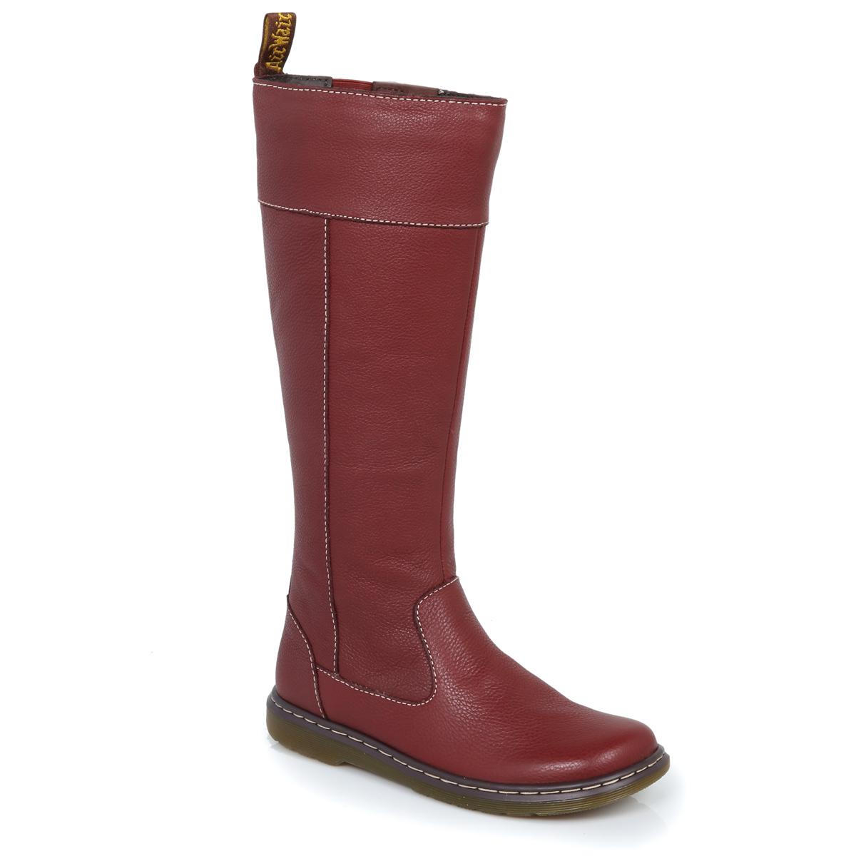 Dr Martens Cherry Mayen Leather Boots Womens sizes 3-9 | eBay